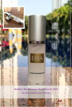 #MothersDay #Giveaway: EHA Gentle Exfoliating Gel Worth Over $1,300! Come, win a facial scrub to exfoliate your weary skin!  #beauty