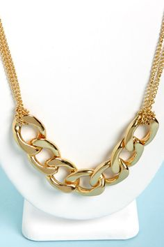 Pretty Gold Necklace - Chain Necklace -