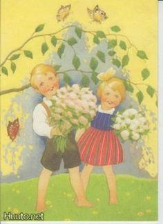 Koivu Good Old Times, May Days, Spring Time, Net, Painting, Fictional Characters, Illustrations, Painting Art, Illustration