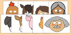 Use these brilliant role-play masks during your lessons on the traditional tale of the little red hen and bring the story alive in your classrooms.