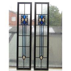 Art Deco Doors | ... Edwardian Original Art Deco Stained Glass Exterior Door in Blue