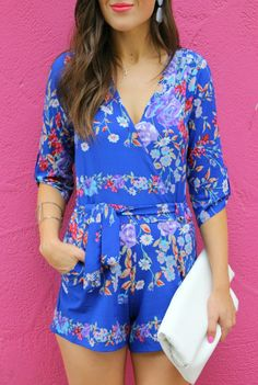 Sophistifunk by Brie Bemis | A Personal Style + Beauty Blog: Floral Blue Romper