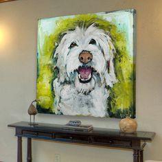 Tori Campisi - Smiley Dog, Canvas Print   ACHICA