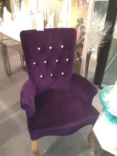 Purple Jeweled Chair x