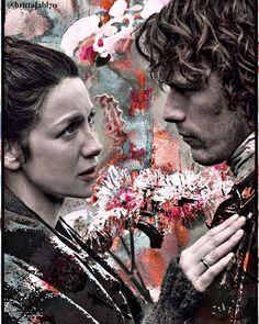 Jamie y Claire   Edición de @brittafahl70 (Twitter)  #JamieFraser  #ClaireFraser  #JamieClaire  #Outlander  #OutlanderSeason2