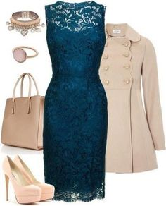 This is a classy look but I wouldn't add the jewelry