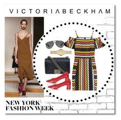 """""""Victoria Beckham NYFW 2016"""" by erinforde ❤ liked on Polyvore featuring Victoria Beckham, MSGM, Chanel, Topshop, Dolce&Gabbana, Burberry, women's clothing, women, female and woman"""