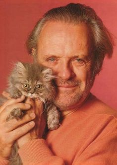 Anthony Hopkins et son chat