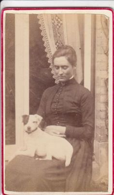 CDV pensive woman sitting w sweet dog w one black eye on her lap Sitting Poses, Vintage Photos, Film, Dogs, Photography, Painting, Ebay, Black, Women