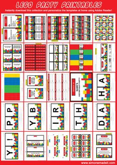 Lego Party Printables, Invitations & Decorations | Birthday Party