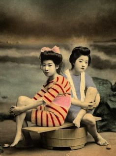 Vintage Photos of Geisha Bathing Beauties