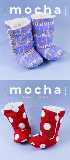 Isaac Baby Boots PDF Pattern #ithinksew - ithinksew.com