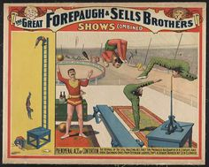 circus, classic posters, free download, graphic design, magic, retro prints, vintage, vintage posters, The Great Forepaugh & Sells Brothers, Phenomenal Acts of Contortion - Vintage Circus Poster