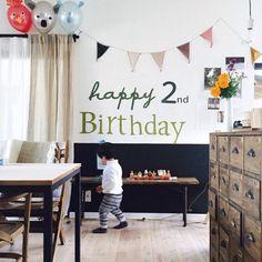traven28さんの、海外インテリアに憧れる,セルフリフォーム,DIY,誕生日飾り付け,ガーランド,Numero74,アニマルバルーン,壁/天井,のお部屋写真