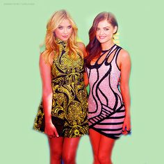aria montgomery and hanna marin | lucy hale # pretty little liars # 2011 appareances