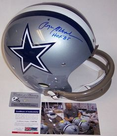 This Dallas Cowboys Authentic Pro Line Football Helmet features the Emmitt Smith style facemask and has been hand signed by Emmitt Smith. Smith added the HOF (Hall of Inscription. Dallas Cowboys Quotes, Dallas Cowboys Football, Football Helmets, Printable Nfl Schedule, Tv Schedule, Nfl Football Schedule, Gameday Sports, Dna, All In One