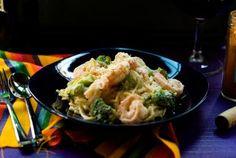 Creamy Spaghetti with Broccoli, Shrimp, and Cayenne Pepper - Nancy Lopez-McHugh