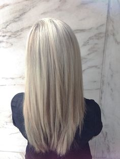 Icy blonde highlights