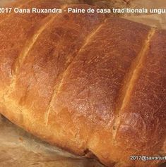 Paine de casa traditionala ungureasca | Savori Urbane Bread, Cabana, Food, Homemade Jelly, Bread Baking, Brot, Essen, Cabanas, Baking