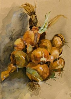 Onions Poster by Andreescu Ion Art Marron, Wall Art Prints, Canvas Prints, Photography Tags, Brown Art, Still Life Art, Art Database, Oil Painting Reproductions, Oeuvre D'art