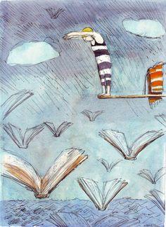 Plonger dans les possibles...Illustration: Caroline Magerl)