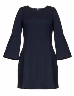 Navy Belle Sleeve Dress