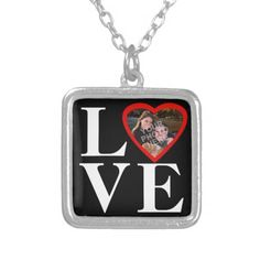 Photo Heart Frame LOVE Valentine' Day for Her Pendant Necklace