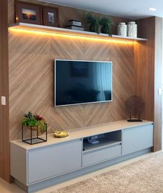 Home Living Room Design Wall unit Television Furniture Shelf Interior design Tv Unit Decor, Tv Wall Decor, Wall Tv, Modern Tv Wall Units, Modern Tv Room, Modern Tv Cabinet, Modern Living Room Design, Modern Closet, Modern Wall