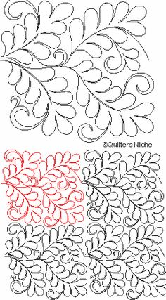 SCF-223 Feathers and Curls quilting design