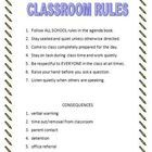 Classroom Rules Sign or Handout.  Ready for back to school. Rules and consequences to post in your classroom. Editable, so you can adapt to your ne...