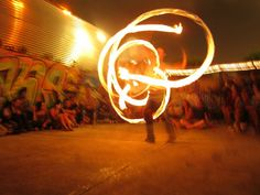 I'm curently learning with haha ~Fire Poi training in progress xP