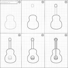 How to draw a guitar.
