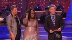Amber Riley from Glee and professional dancer Derek Hough By far, my favorite couple