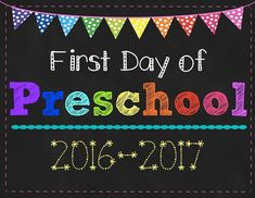 Remember your childs first day of Preschool with this cute sign! This set includes a coordinating first and last day of Preschool sign.