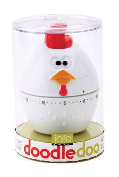 Joie Rooster Mechanical Timer kitchen timer Made of durable plastic Mechanical; no need for batteries Chicken design; fun for all ages Wipe with damp soapy cloth to clean Pomodoro Technique Timer, Chicken Kitchen Decor, Doodle Doo, Kitchen Timers, Cute Kitchen, Farm Yard, Kitchen Tools, Kitchen Gadgets, Kitchen Gifts