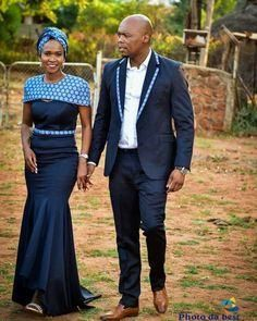 African sotho Shweshwe dresses for 2020 ⋆ African Wedding Attire, African Attire, African Wear, African Dress, African Traditional Wedding Dress, Traditional Wedding Attire, Traditional Outfits, African Print Fashion, Africa Fashion