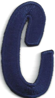 """Amazon.com: [Single Count] Custom and Unique (2 1/4"""" to 1 1/4"""" Inches) American Alphabet Navy Script Bold Letter C Iron On Embroidered Applique Patch {Dark Blue Color}: Arts, Crafts & Sewing"""