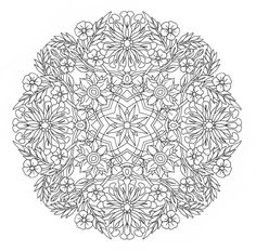 Printable Coloring Page - Honey Suckle Mandala