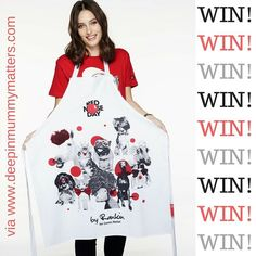 Celebrity photographer Rankin has designed these new Aprons for #RedNoseDay and I have one to giveaway along with a colouring book.  Pop over to the blog to enter.  Pls RT. Am going to pop the link in bio. #giveaway #competition #charity #makeadifference