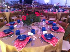 Tablescape at the Spring 2014 Dinner in Cresson, Texas for Faculty Members and Trustees.