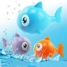 Cute Cartoon Funny Baby Bath Toy Swimming Animal Fish Clockwork Wind Up Toy Shark Plastic Pool Bath Toys Kids Gift Toy