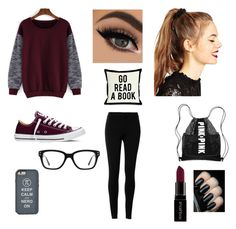 """""""College casual"""" by jessmarrriee on Polyvore featuring Max Studio, Converse, ASOS, Smashbox and One Bella Casa"""