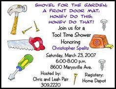 10 Honey Do Tool Bridal Invitations OR Printable by wackykracker, $10.00
