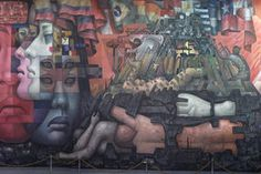 'The Presence of Latin America' Mural in Concepción Chile