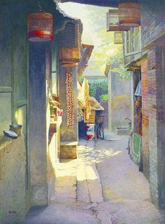Virtual Museum, best of contemporary visual art, page 85 Modern Art, Contemporary Art, China Art, Chinese Painting, Beautiful Paintings, Japanese Art, Art Images, Art Inspo, Watercolor Paintings