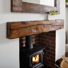 Stairhaus inc custom stair design hand hewn beams fireplace mantels the fieldsboro fireplace mantel shelf wood fireplace mantelsCustom Rustic Fireplace Mantel Shelf Cut Oak Tree Like Face ByFireplace Mantels And Rustic Mantel. Oak Beam Fireplace, Oak Mantle, Wood Fireplace Mantel, Wooden Fireplace, Fireplace Shelves, Mantel Shelf, Stove Fireplace, Brick Fireplaces, Houses