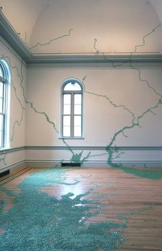 """Maya Lin, """"Folding the Chesapeake"""" (2015) - The Smithsonian's 'Wonder' Exhibition Fills a Newly Renovated Gallery Floor-to-Ceiling with Artworks"""