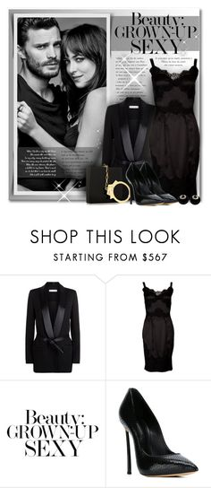 """Grown-Up Sexy"" by petri5 ❤ liked on Polyvore featuring IRO, Charlotte Olympia, Dolce&Gabbana, Burberry, Casadei and David Webb"