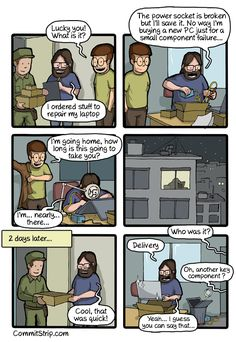 I've been there plenty of times. From CommitStrip.
