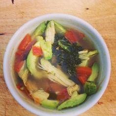 Chicken Avocado Soup on Healthy Momma! So many yummy, easy healthy recipes